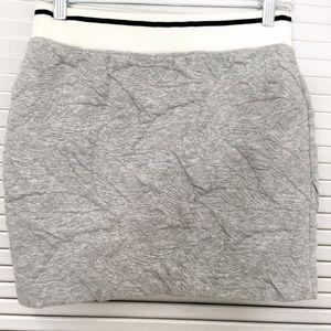 RAG & BONE   Jacquard Jersey Skirt Gray Mini Small